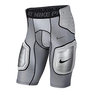 179bf4d283d Amazon.com  Nike Pro HyperStrong Hardplate 808772-100 White Grey Men s  Graphic Football Shorts  Clothing