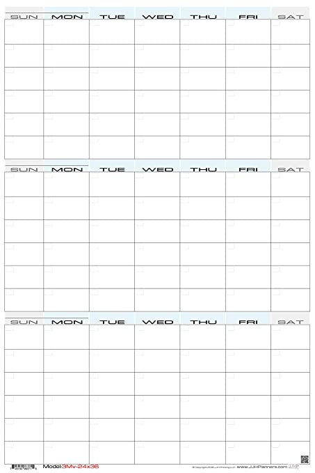 graphic relating to Blank Planner called JJH Planners - Laminated Blank - 24\