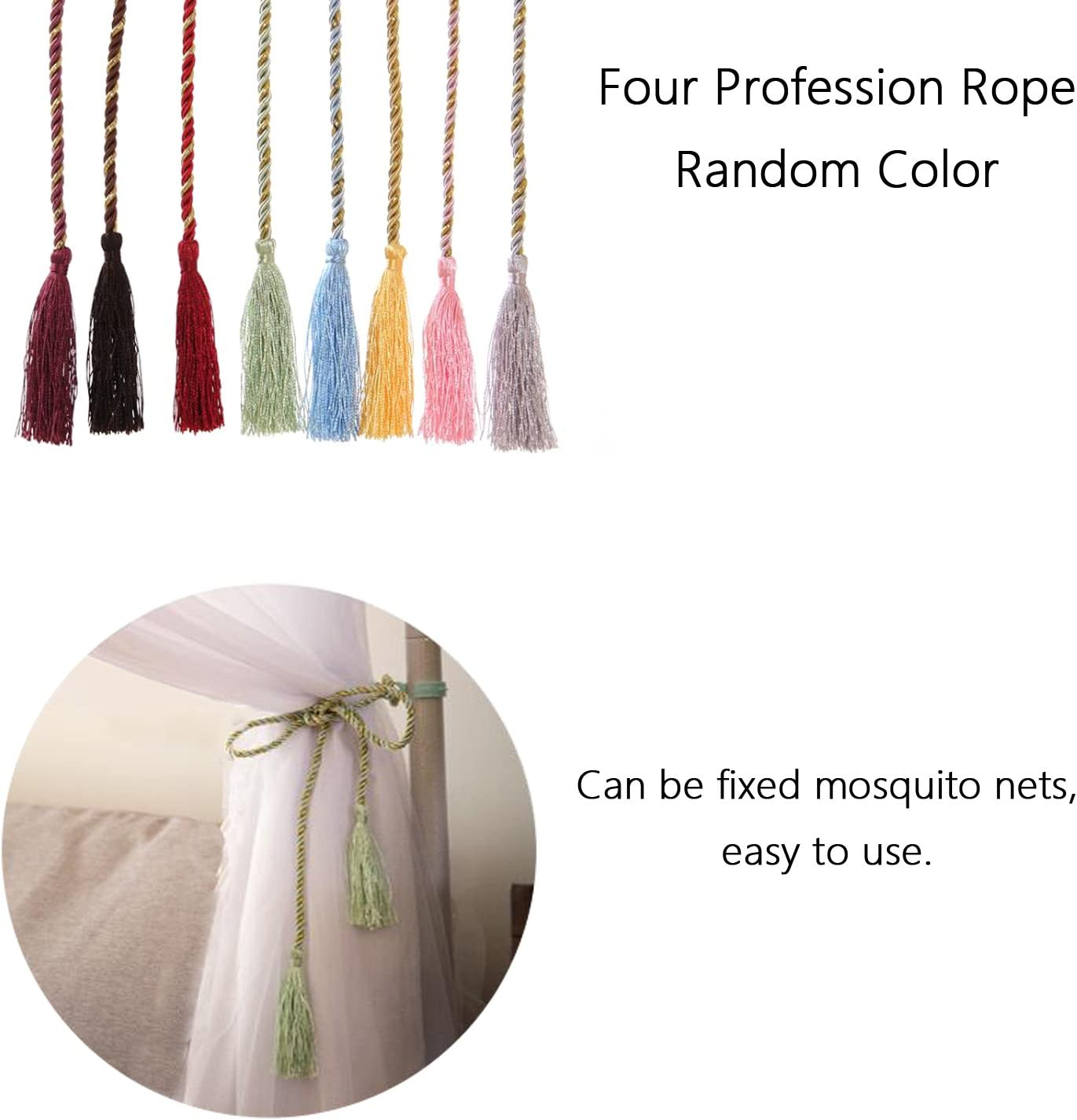 Screen Netting Canopy Curtains Mosquito Net for Bed Canopy 4 Corner Post Curtains Bed Canopy Elegant Mosquito Net Set Stick Hook /&Profession Rope for net Full//Queen//King Black