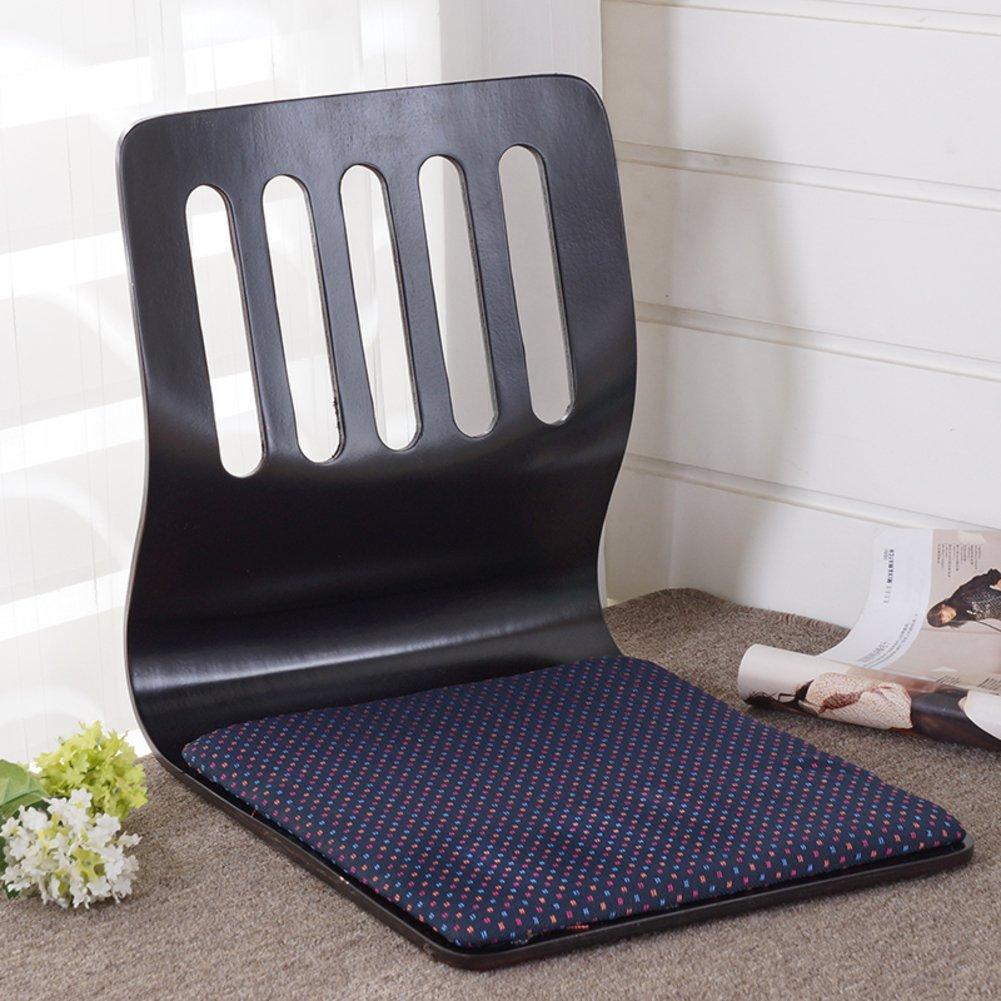 QIQ Tatami Room Chair,Bed Dormitory Back Chair Japanese Legless Chair Bay Window backrest Chair Lazy Chair Cushion-H by QIQ