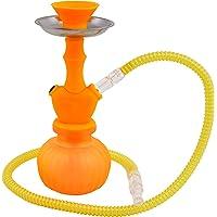 MADGROW. Cachimba Silicona.Naranja. Shisha de 25 cm. 1 Manguera acrílica. SÚPER Pack Manguera de Recambio acrílica + 10…