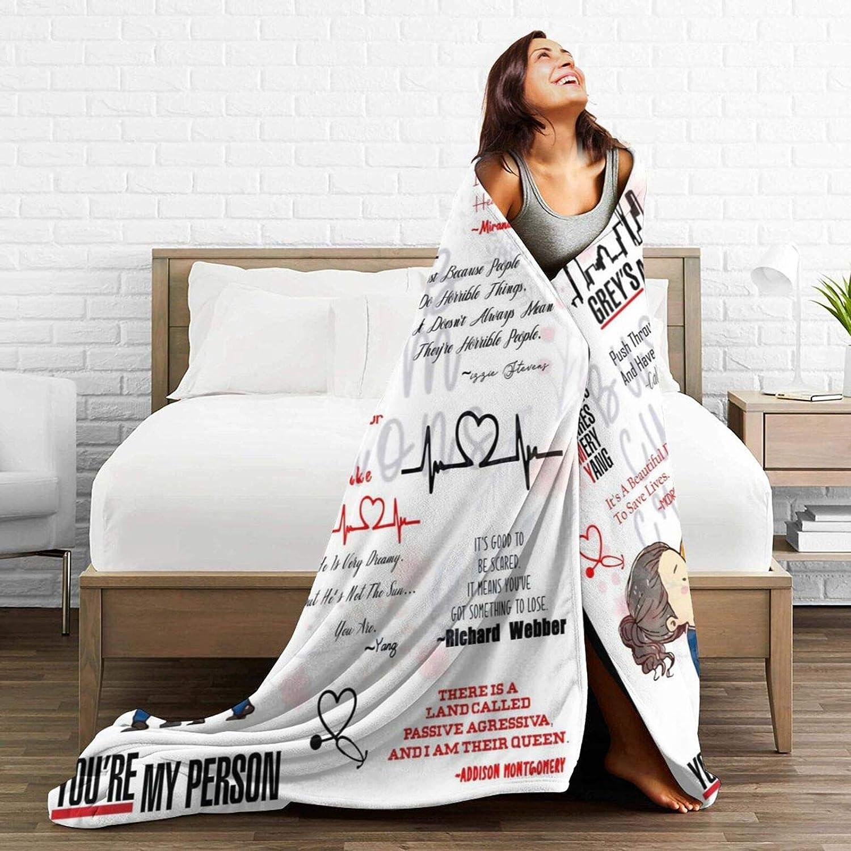divano 130 x 100 cm camera da letto soggiorno Greys Anatomy Coperta in pile super morbido per biancheria da letto