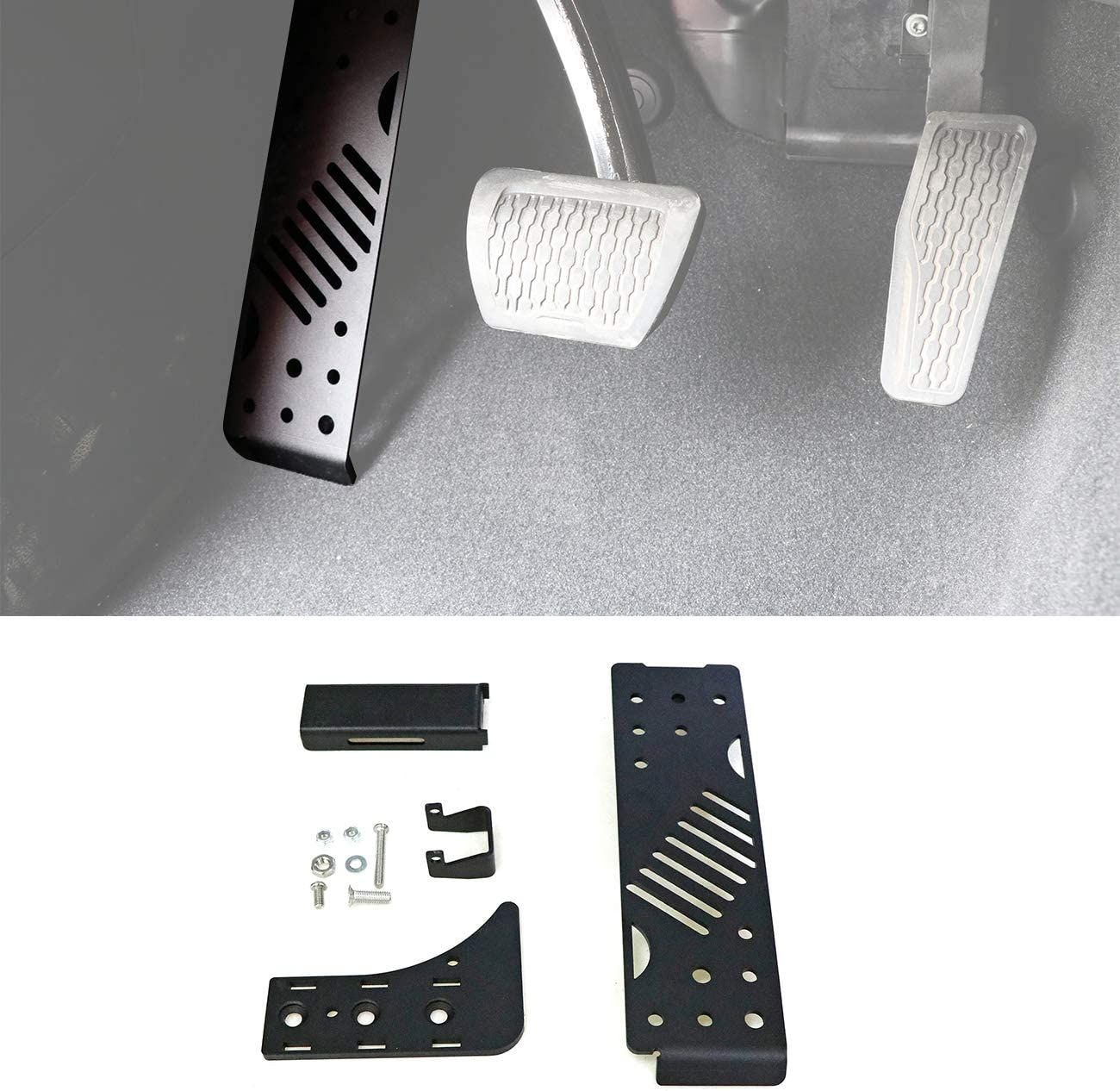 Aluminium Alloy Left Foot Rest Pedal Foot Pegs Kick Panel for 2018 2019 Jeep Wrangler JL Unlimited