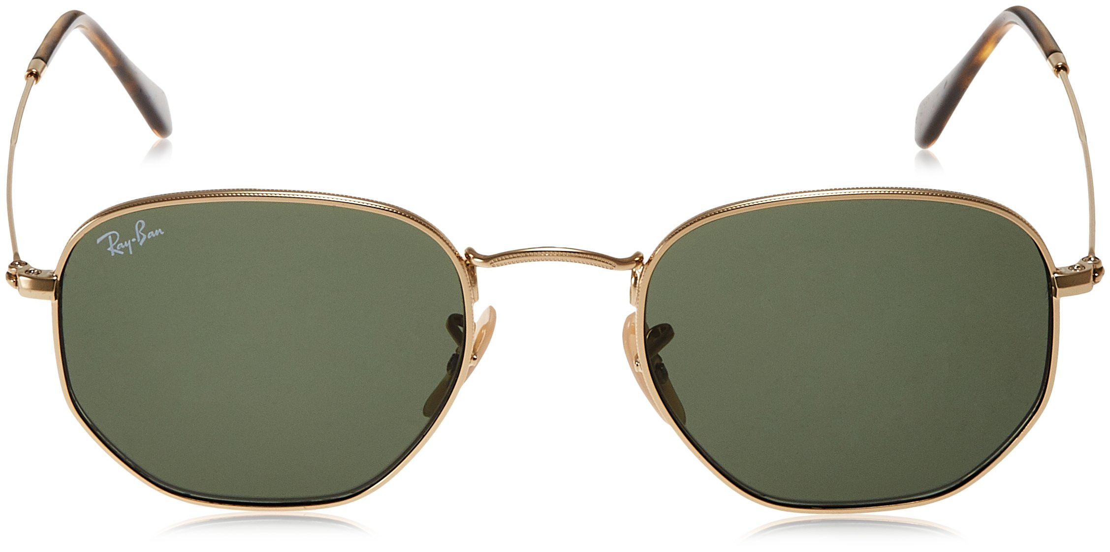 Ray-Ban Unisex RB3548N Hexagonal Sunglasses - Gold Frame Green Lenses, 51 mm by Ray-Ban (Image #2)