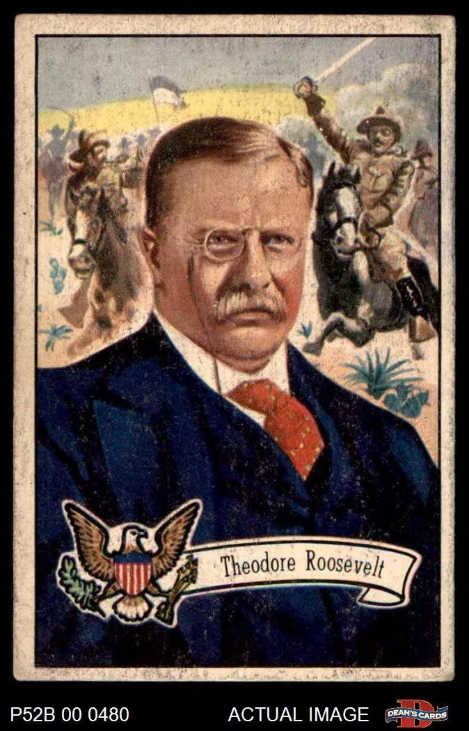 1952 Bowman U.S. Presidents # 28 Theodore Roosevelt (Card) Dean's Cards 2 - GOOD 71gc8yGDABL