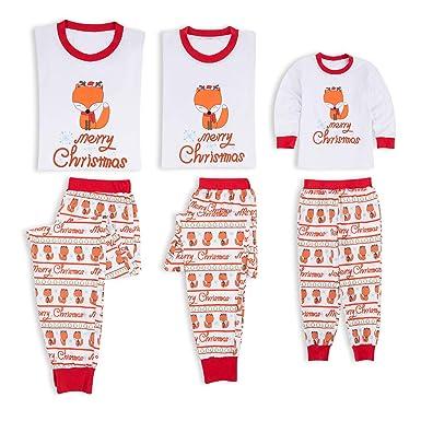 f95180dd85e2c BenCreative Famille Pyjamas De Noël Mignon Dessin Animé Renard Bébé Enfants  Maman Papa Pyjamas Ensemble Famille