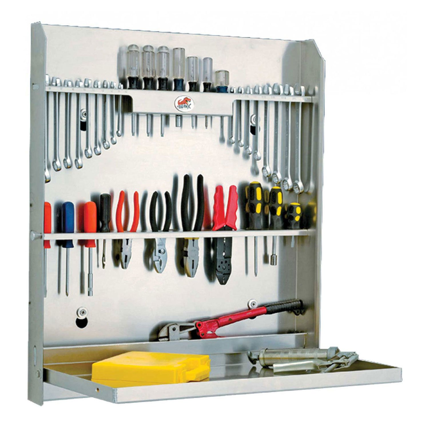 Tool Cabinet With Tray, Aluminum 30''H x 26''W x 4''D