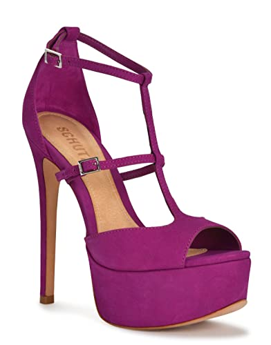 5048e6a93db Amazon.com: SCHUTZ Parina Lolita Purple Suede Super High Heel ...