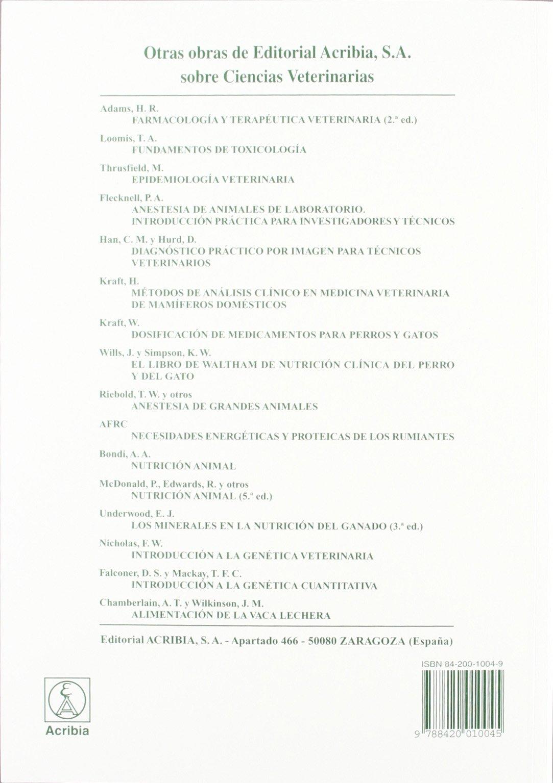 calculos para el profesional veterinario: McCONNELL(010045): 9788420010045: Amazon.com: Books