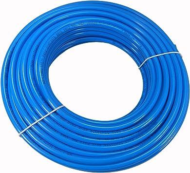PA Schlauch PA 12 Polyamidschlauch Rolle 10 Meter 10 mm x 8 mm Blau