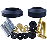Universal Toilet Tank To Bowl Gaskets with 3 Sets Brass Hardware Kits Fits Most 2-Inch 2.5-Inch flush valve opening 2…