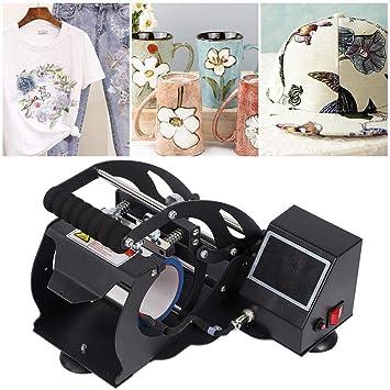 Impresora digital Equipo de prensa en caliente, pantalla táctil LED Pantalla digital Máquina de prensa de calor Máquina de transferencia por sublimación de taza(#1): Amazon.es: Hogar