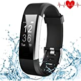 Kybeco Fitness Tracker, Elegant Waterproof Heart Rate Monitor Activity Tracker Bluetooth Wearable Wristband Wireless Step Counter Smart Bracelet Watch for Android and iOS Smartphones