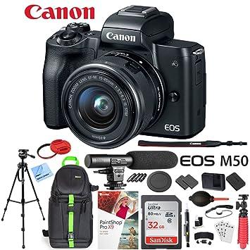 Amazon.com: Canon EOS M50 - Cuerpo de cámara réflex con ...