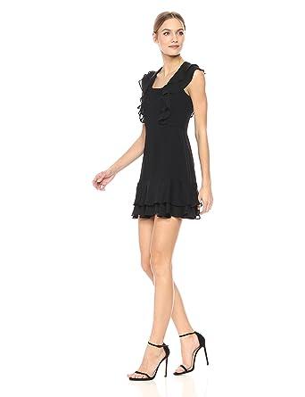 d875d530307 Amazon.com  Parker Women s Berlin Short Sleeve Ruffle Silk Mini Dress   Clothing