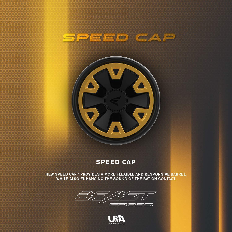EASTON Beast Speed -10 Speed End Cap 2019 Lizard Skin Grip ATAC Alloy 1 Piece Aluminum 2 5//8 USA Youth Baseball Bat