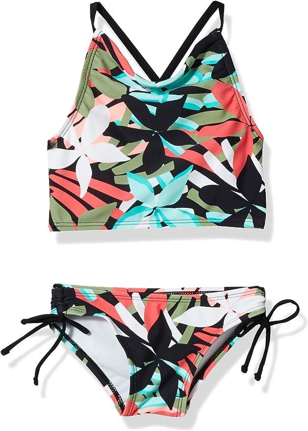 Kanu Surf Girls Daisy Beach Sport Halter Tankini 2-Piece Swimsuit Tankini Set