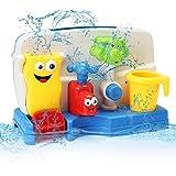 FUNTOK Bath Toy Portable Bath Tub Toy Water Sprinkler System With Sucker Creative Cartoon Bathroom Toys for baby toddler