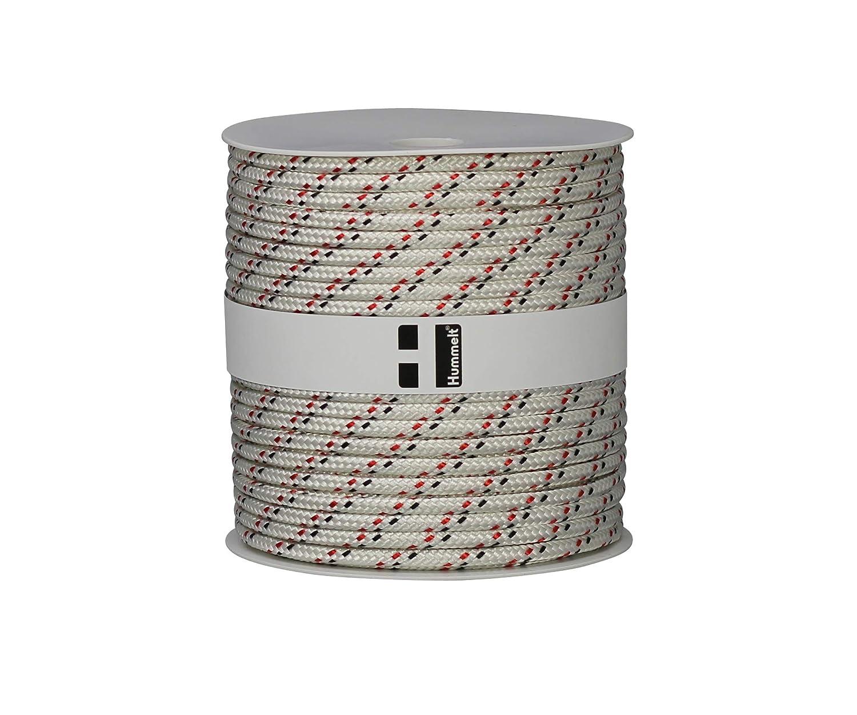 Hummelt/® SilverLine-Rope Schot Seil Polyesterseil 6mm 50m wei/ß//rot//gelb auf Rolle