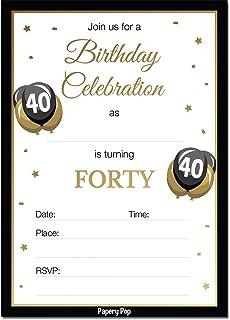 amazon com pink black silver diamond 40th birthday party