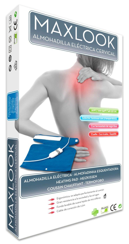 Maxlook Almohadilla Eléctrica Cervical: Amazon.es: Salud y cuidado ...
