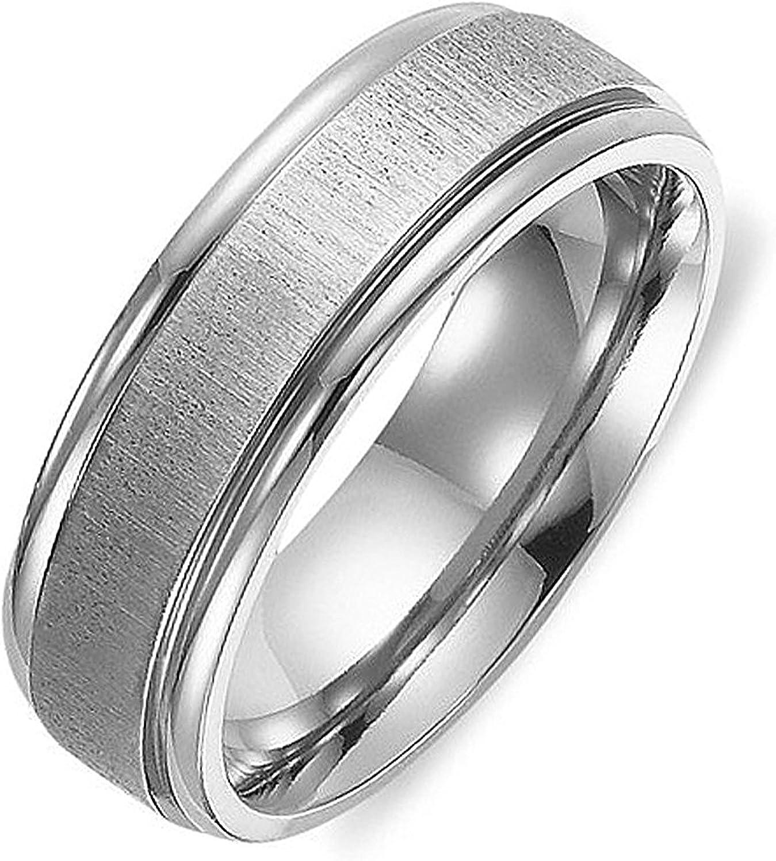 Gemini Groom /& Bride Flat Court Comfort Fit Rose Gold Titanium Wedding Rings Set Width 6mm /& 4mm Men Ring Size 4.25 12 Women Ring Size