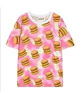 (シーファニー)Cfanny レディース 可愛い 原宿風 ミッキーマウス ミッキーカートン キャラクター ストリート プリント クルーネック ゆったり アメカジ トップス 半袖 Tシャツ
