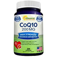 CoQ10 (200 Capsules and 200mg) - High Absorption Vegan CO Q-10 Enzyme Ubiquinone...