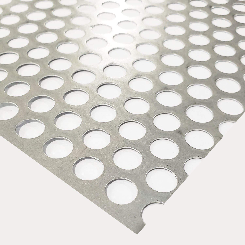 Online Metal Supply Galvanized Steel Perforated Sheet 0.028'' x 24'' x 24'', 1/2'' Holes by Online Metal Supply
