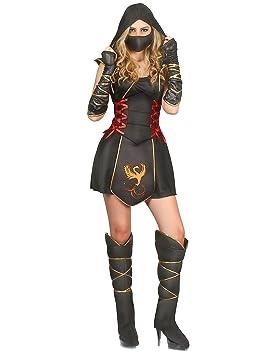 Generique - Disfraz Ninja para Mujer guerrera L: Amazon.es ...