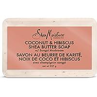 Shea Moisture Shea Butter Soap for dull skin Coconut & Hibiscus paraben free 230 g