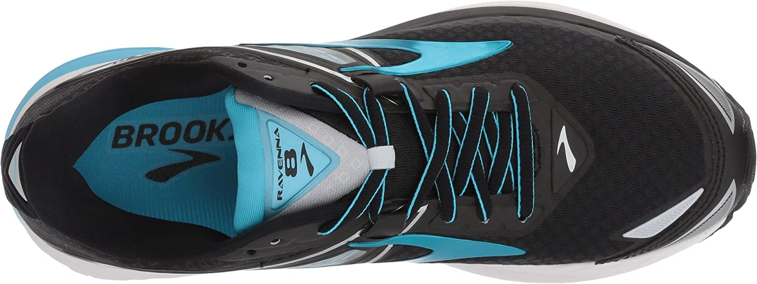 Brooks Women's Ravenna 9.5 8 B01MYBCBXS 9.5 Ravenna B(M) US|Black/Silver/Aquarius 8b55af