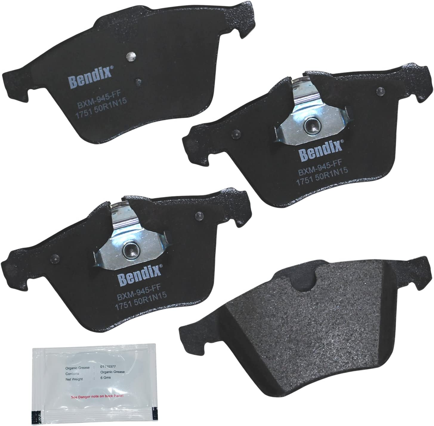 Bendix Premium Copper Free CFM1646 Premium Copper Free Semi-Metallic Brake Pad Rear