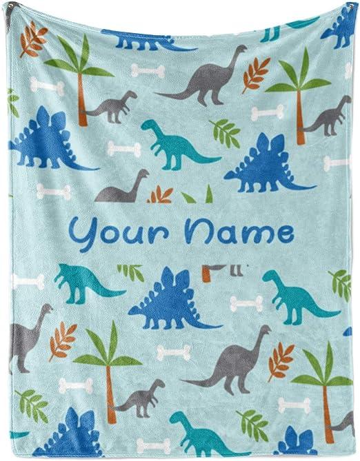 Bib Dinosaur Rex Personalized Custom Name Infant Baby Boy Girl Micro fiber