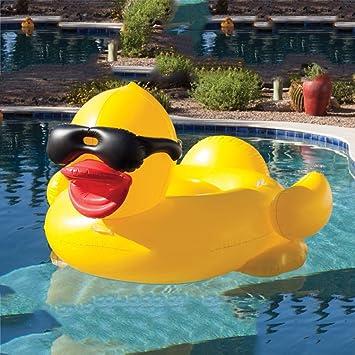 WLWWY Monturas De Pato Amarillo Inflable Gigante, Boya De Vida, Piscina Al Aire Libre