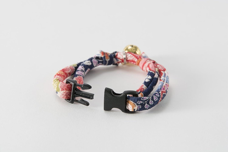 Handcrafted in Japan Necoichi Chirimen Hanabi Fireworks Cat Collar 1 Size fits All