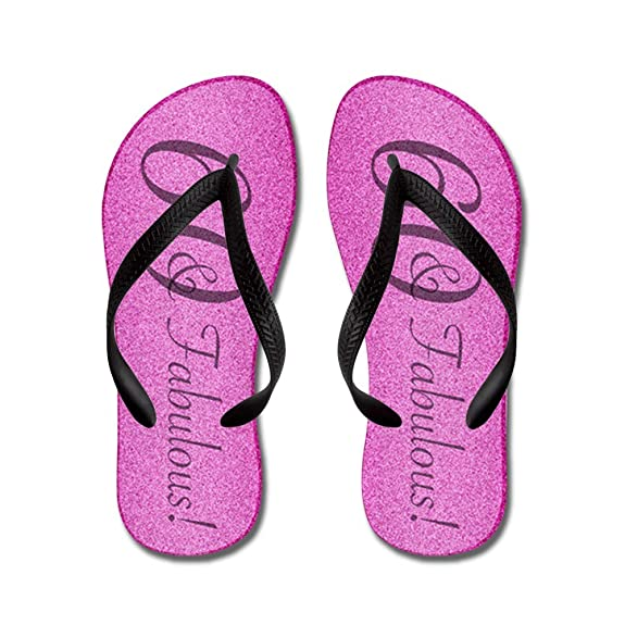 60Th Birthday Fabulous - Flip Flops Funny Thong Sandals Beach Sandals