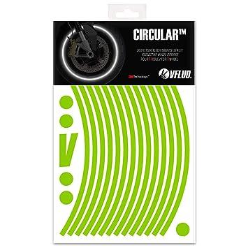 VFLUO CircularTM, Kit de Cintas, Rayas Retro Reflectantes para Llantas de Moto (1