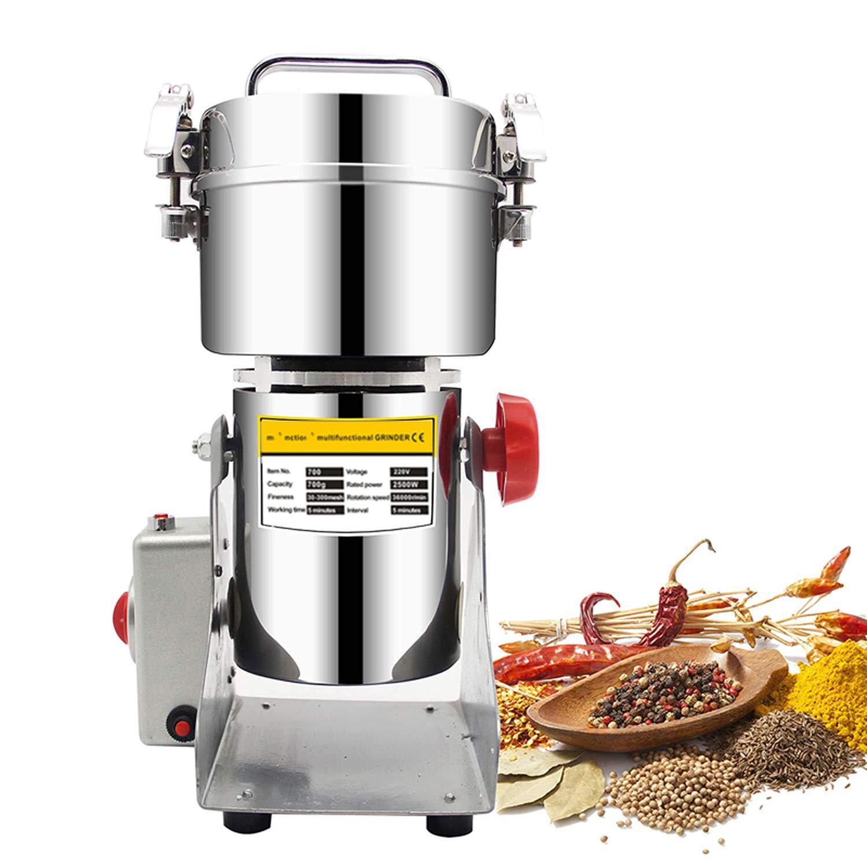 700G Swing Type Electric Grains Herbal Powder Miller Dry Food Grinder Machine High Speed Intelligent Spices Cereals Crusher,Spain,Eu Plug 220V