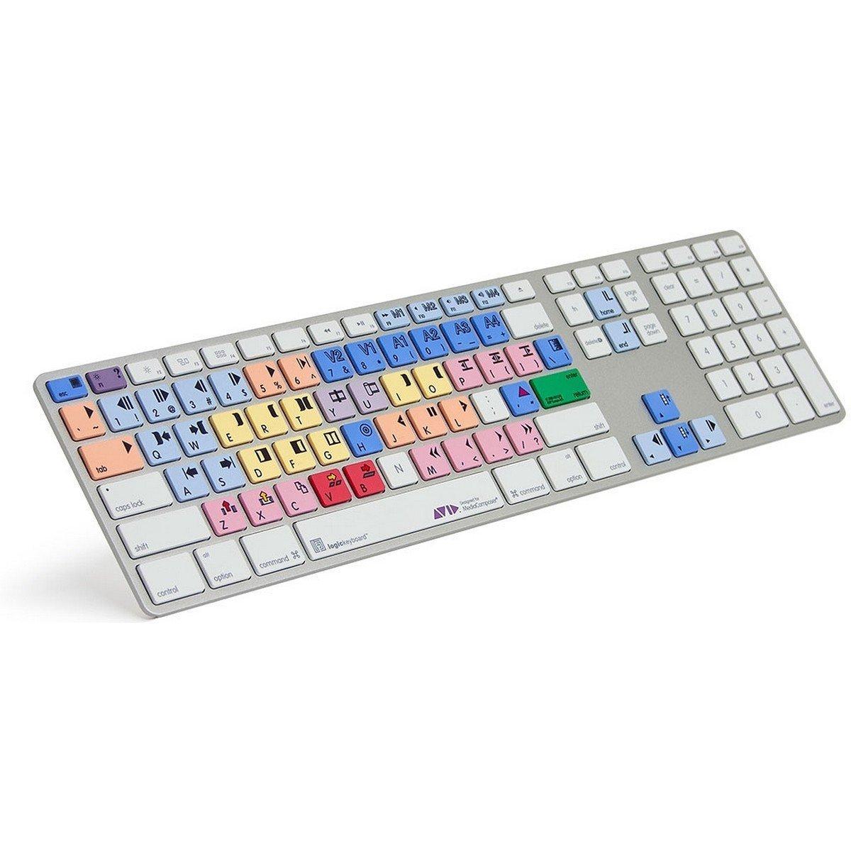 Logickeyboard Avid Media Composer Apple Pro Alu Keyboard | Ultra Thin Shortcut Keyboard for Avid Media Composer by Logickeyboard