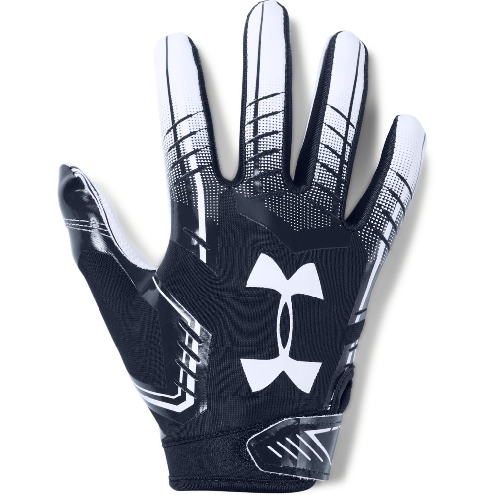 Under Armour boys F6 Youth Football Gloves Midnight Navy (410)/White Youth Small