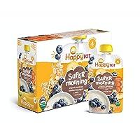 Happy Tot Organic Stage 4 Super Morning Organic Bananas Blueberries Yogurt & Oats...