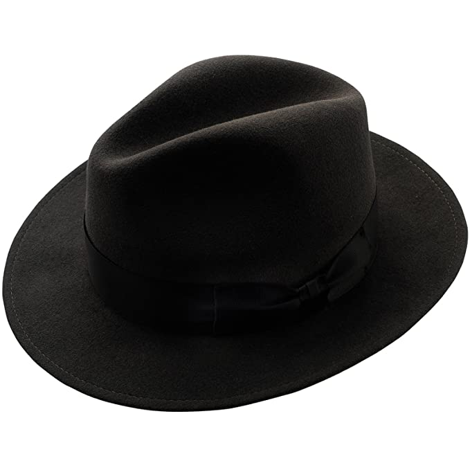 0f7ff51804a74 Sterkowski Rabbit Fur Felt Classic Vintage Fedora Hat at Amazon Men s  Clothing store