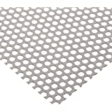 A36 Steel Perforated Sheet, Unpolished (Mill) Finish, Hot Rolled, Inch, Staggered, ASTM A36