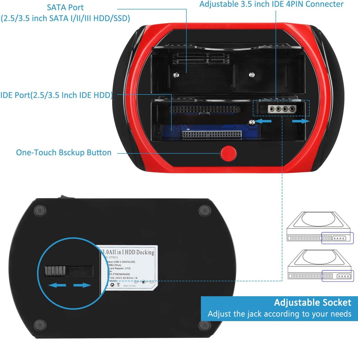 Tccmebius TCC-S862-DE USB 2.0 a IDE SATA Bahía Dual HDD Disco Duro ...