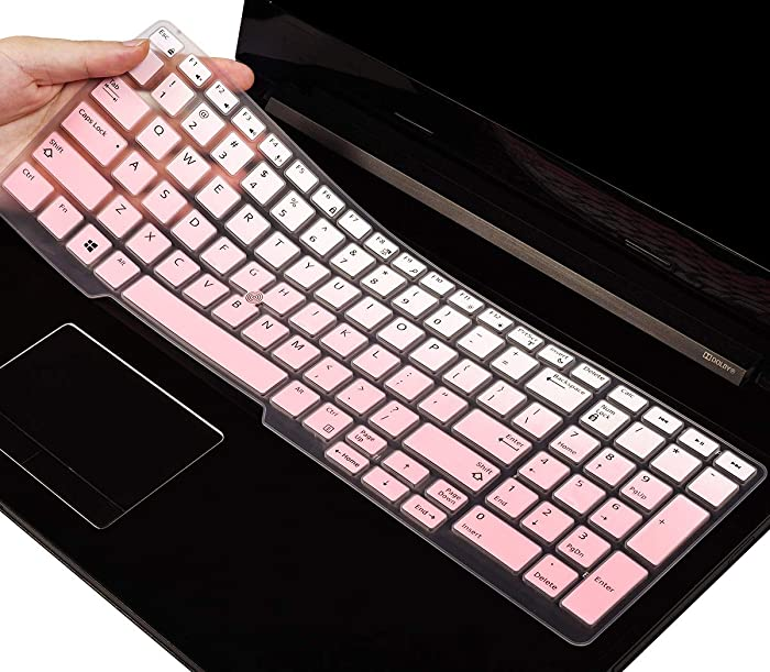 CASEDOO Keyboard Cover for Dell Latitude E5550 E5570 5580 5590 5591, Precision M5520 M7510 M7520 M7710 M7720 with Pointing, Dell Latitude 5590 Keyboard Skin Protector(Gradual Pink)