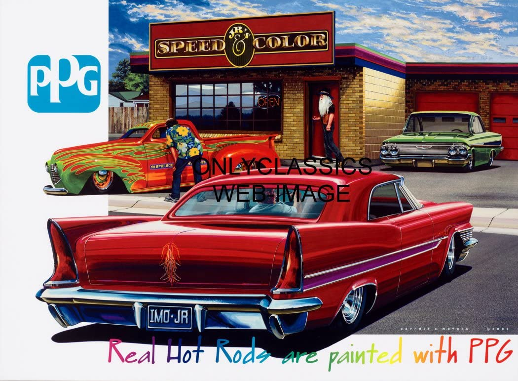 Amazon Com Onlyclassics Ppg Advertising Car Poster Jr S Speed Color Hot Rod Automobilia Street Car Rat Posters Prints,T Mobile Free Inflight Wifi Delta