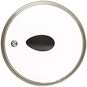 "10"" Earth Frying Pan Lid in Tempered Glass, by Ozeri"