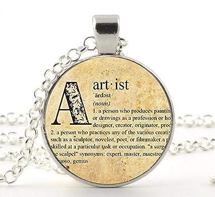 Amazon com: Dictionary Pendant, Artist, Necklace Jewelry, Artist