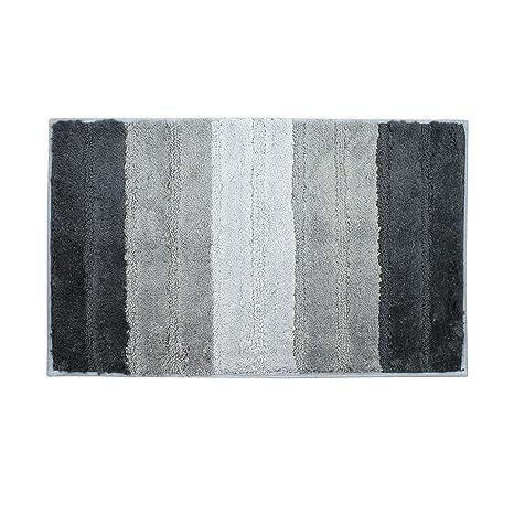Amazon.com: Alfombrillas de baño negras y grises para ...